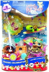Littlest Pet Shop Figures Playset Summer Seaside Celebration #2
