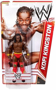 Mattel WWE Wrestling Basic Series 15 Action Figure #14 Kofi Kingston