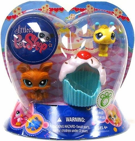 Littlest Pet Shop Exclusive Valentines Day 2-Pack Bumblebee & Dog with Cupcake