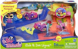 Littlest Pet Shop Walkables Playset Slide & Dive Lagoon