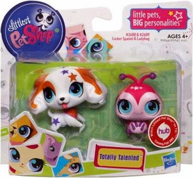 Littlest Pet Shop Totally Talented Pets Cocker Spaniel & Lady Bug