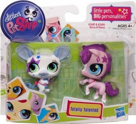 Littlest Pet Shop Totally Talented Pets Mouse & Horse