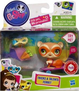 Littlest Pet Shop Tricks & Talents Figure Ferret