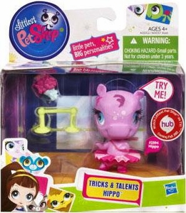 Littlest Pet Shop Tricks & Talents Figure Hippo