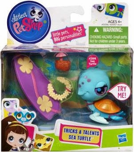 Littlest Pet Shop Tricks & Talents Figure Sea Turtle