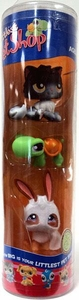 Littlest Pet Shop Halloween 3-Pack Black Cat, Jack o' Lantern Turtle & Ghost Bunny