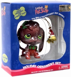 Littlest Pet Shop Holiday Ornament Set Bobble Daschund & Miniature Turtle