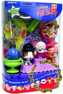 Littlest Pet Shop Best in Show Playset Totally Talented Pets Damaged Package, Mint Contents!