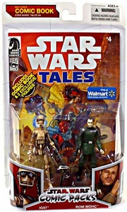 Star Wars 2009 Comic Book Action Figure 2-Pack Dark Horse: Star Wars Tales #4 IG97 & Rom Mohc