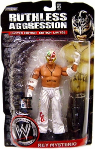 WWE Wrestling Ruthless Aggression Limited Edition Exclusive Action Figure Rey Mysterio [White Mexico Mask & Pants]