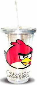 Angry Birds 16oz. Tumbler With Lid & Straw Red Bird