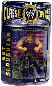 WWE Wrestling Classic Superstars Toyfare Exclusive Limited Edition Action Figure All American Sgt. Slaughter