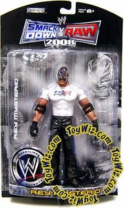 WWE Wrestling Smackdown vs. Raw 2008 Exclusive Action Figure Rey Mysterio BLOWOUT SALE!