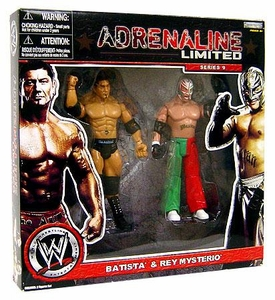WWE Wrestling Exclusive Adrenaline Limited Series 9 Action Figure 2-Pack Batista & Rey Mysterio