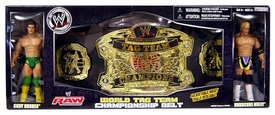 WWE Jakks Pacific RAW Exclusive World Tag Team Championship Belt with Cody Rhodes & Hardcore Holly Action Figures