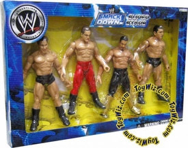 WWE Wrestling Exclusive Smackdown Super Stars Action Figure 4-Pack [Eddie Guerrero, JBL, Chris Benoit & Batista]