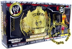 WWE Jakks Pacific Wrestling Exclusive World Heavyweight Championship Belt with Hulk Hogan Action Figure