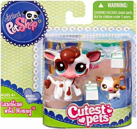 Littlest Pet Shop Cutest Pets Mommy & Baby Figures Cows
