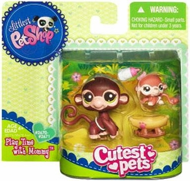 Littlest Pet Shop Cutest Pets Mommy & Baby Figures Monkeys