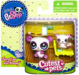 Littlest Pet Shop Cutest Pets Mommy & Baby Figures Panda Bears