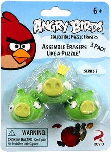 Eraseez Collectible Puzzle Eraser 3-Pack Angry Birds [3 Pigs]
