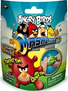 Angry Birds Mash'Ems Series 1 Mystery Foil Mini Figure Single Pack [1 RANDOM Figure]