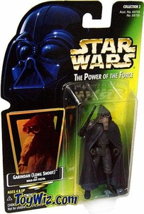 Star Wars POTF2 Power of the Force Hologram Card Garindan (Long Snoot) with Hold-Out Pistol