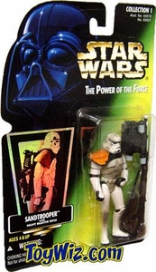 Star Wars POTF2 Power of the Force Hologram Card Sandtrooper with Heavy Blaster