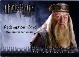 Harry Potter and the Half-Blood Prince Authentic Autograph Redemption Card Michael Gambon as Albus Dumbledore
