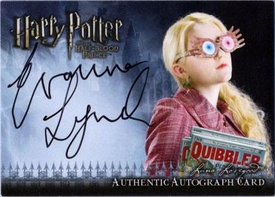 Harry Potter and the Half-Blood Prince Authentic Autograph Card Evanna Lynch as Luna Lovegood