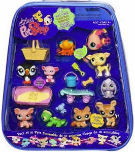 Littlest Pet Shop Exclusive Mega 10-Pack of Pets in Carry Case [Includes Puffin, Fish, Whippet & Deer]