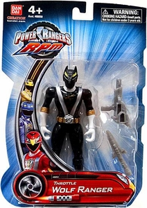 Power Rangers RPM 5 Inch Basic Action Figure Throttle Wolf Ranger [Black]