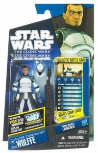 Star Wars 2011 Clone Wars Action Figure CW No. 48 Clone Commander Wolffe