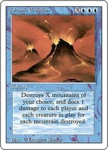 Magic the Gathering Revised Edition Single Card Rare Volcanic Eruption