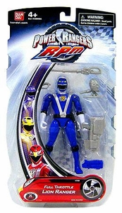 Power Rangers RPM 5 Inch Basic Action Figure Full Throttle Lion Ranger [Blue]
