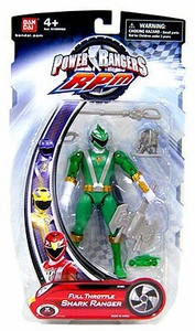 Power Rangers RPM 5 Inch Basic Action Figure Full Throttle Shark Ranger [Green]