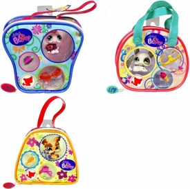 Littlest Pet Shop Set of 3 Purses with Pets [Ladybug, Chinchilla & Yorkie]