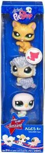 Littlest Pet Shop Sassiest 3-Pack Baby Eagle, Kitten & Hedgehog