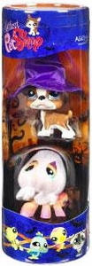 Littlest Pet Shop Exclusive Halloween 2-Pack Tube Spooky Dog & Spider