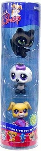 Littlest Pet Shop Exclusive Tube 3-Pack Raccoon, White Owl & Baby Boxer