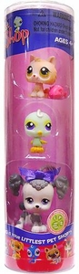 Littlest Pet Shop Tube 3-Pack Kitten, Birdie & Gray Poodle