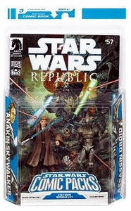 Star Wars 2009 Comic Book Action Figure 2-Pack Dark Horse: Republic #57 Anakin Skywalker & Assasin Droid