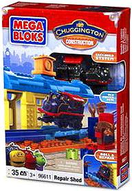 Chuggington Chugger Training Mega Bloks Set #96611 Repair Shed