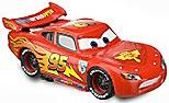 Disney / Pixar CARS 2 Movie 1:55 PVC Plastic LOOSE Car Lightning Mcqueen [Wheels Do NOT Spin!]