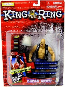 Jakks Pacific WWF King of the Ring 1999 Breakdown in Your House Action Figure Stone Cold Steve Austin