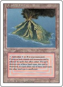 Magic the Gathering Revised Edition Single Card Rare Volcanic Island