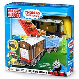 Thomas & Friends Mega Bloks Set #10512 Toby Hard At Work