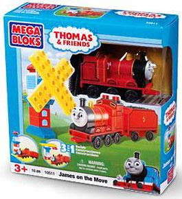 Thomas & Friends Mega Bloks Set #10511 James on the Move