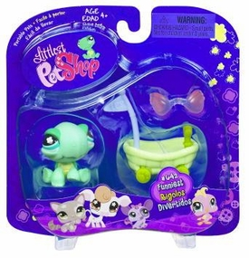 Littlest Pet Shop Portable Pet Turtle with Wheelbarrow