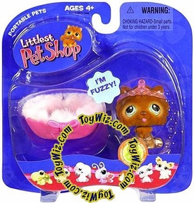 Littlest Pet Shop Pets On the Go Figures Chow Chow with Bed